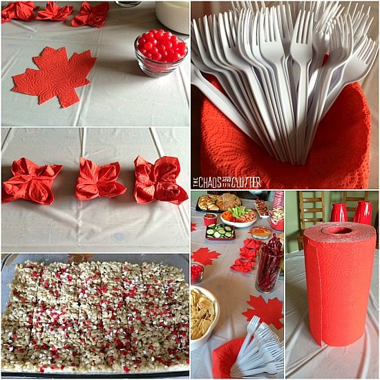 Canada Day party decorations