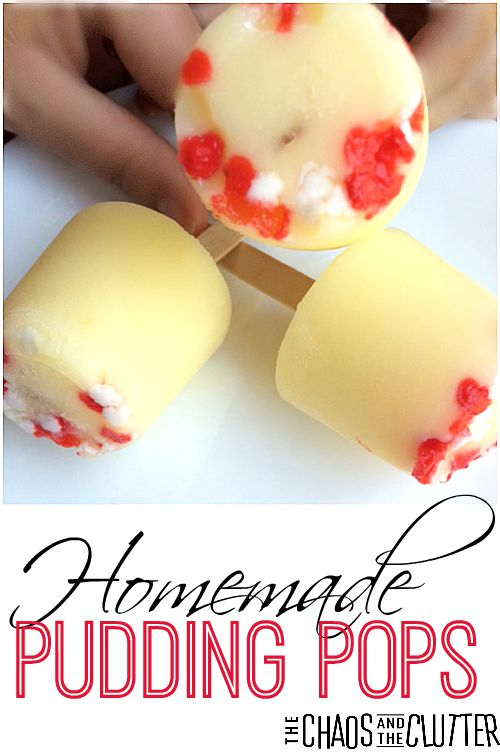 Homemade Pudding Pops that are simple to make and can be tailored to any occasion