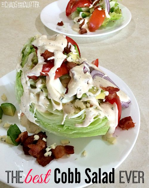 Delicious Cobb salad that is restaurant quality and can easily be made at home. This is SO good!