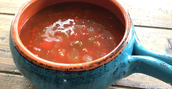 Pinto Tortilla Soup in a bowl