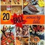 20 Fall Sensory Bins