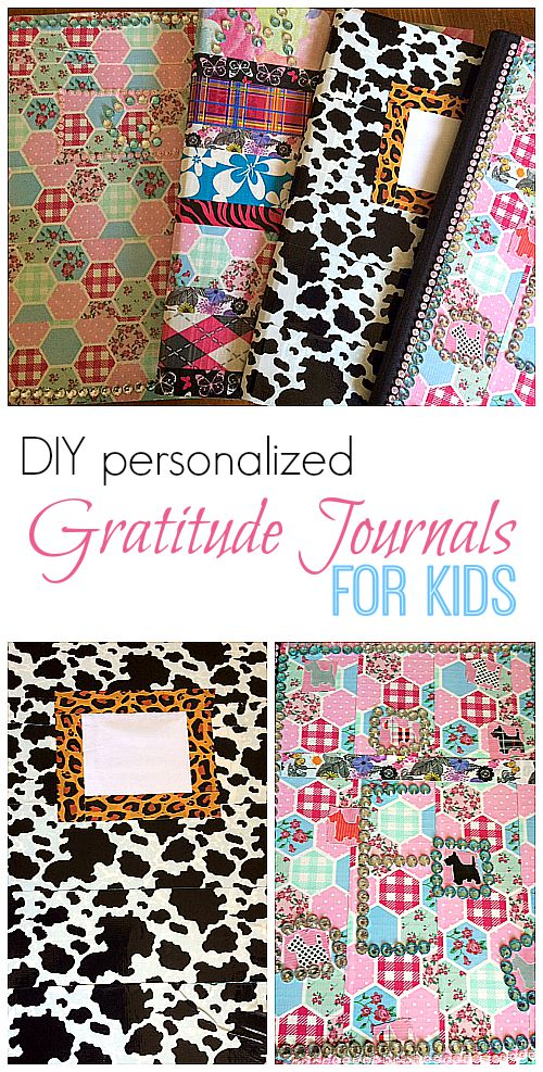 DIY Personalized Gratitude Journals for kids