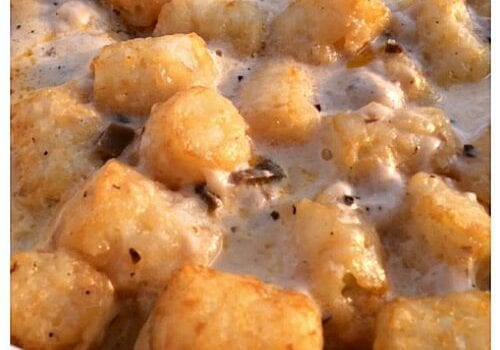 Tator Tot Casserole with ground sausage