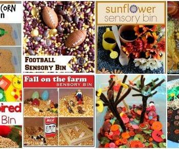 20 fall sensory bins!