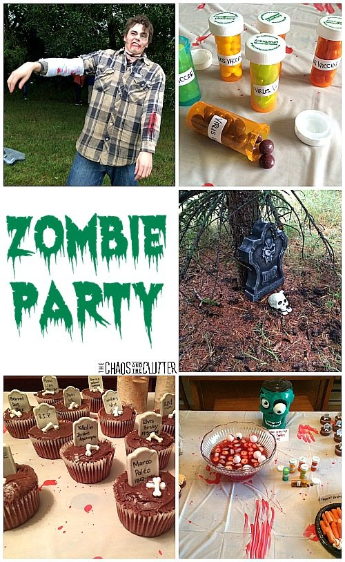 Zombie Party Ideas...decorations, games, food, and everything else you'll need to create the most epic Hallowe'en or birthday party ever!