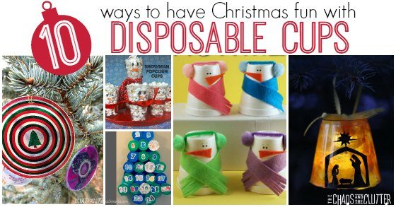 10 ways to have Christmas Christmas fun with Disposable Cups