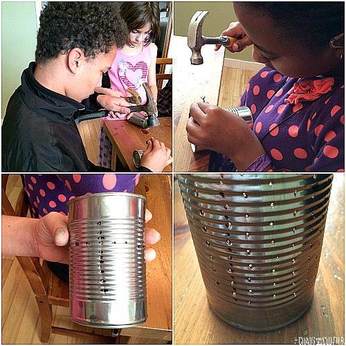 creating tin can luminaries
