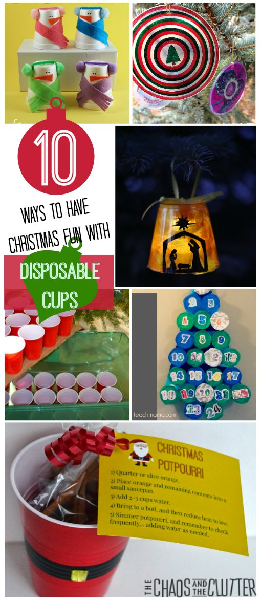 10 Ways to Have Fun over the holidays with Disposable Cups!