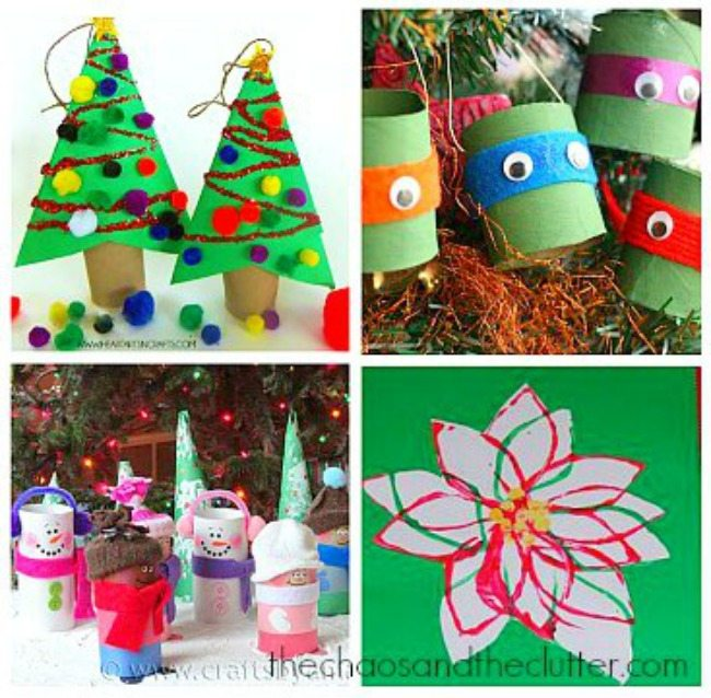 Christmas Toilet Paper Roll Crafts ...  sc 1 st  The Chaos and the Clutter & Paper Plate Christmas Crafts