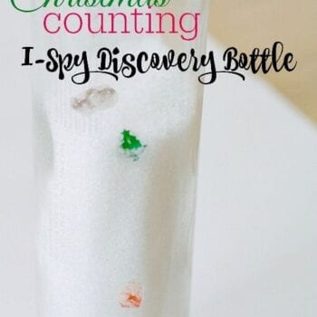 Christmas Counting I-Spy Discovery (Sensory) Bottle