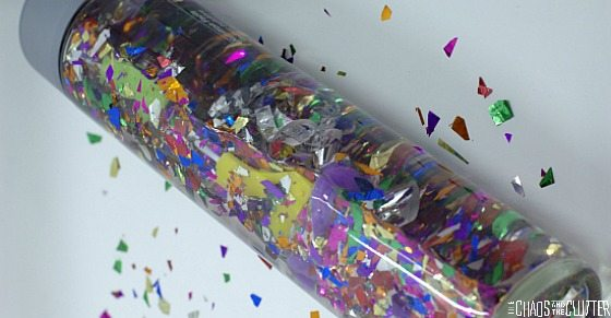 DIY New Year's Sensory Bottle