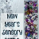 This New Year's sensory bottle is especially for the kids but can also add to the decor of any New Year's celebrations.