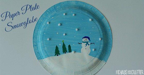 Paper Plate Snowglobe