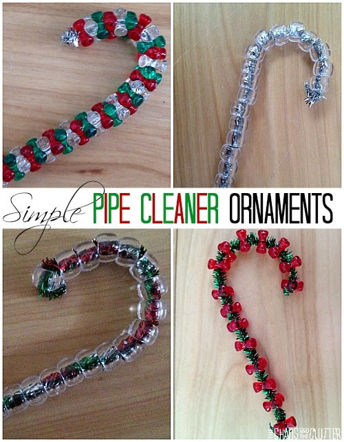 Simple Pipe Cleaner Candy Cane Ornaments