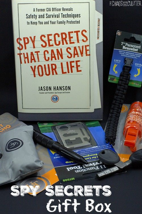 This Spy Secrets gift box is perfect to make for the hard to buy for man (or woman) in your life!