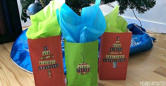 Washi Tape Bags for Christmas