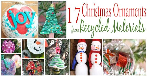 17 Recycled Christmas Ornaments To Make