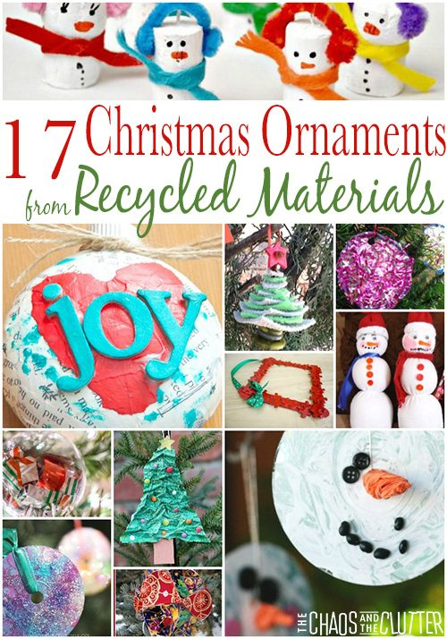 Christmas Ornaments made from Recycled Materials