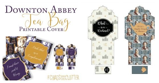 Downton Abbey Printable Tea Covers
