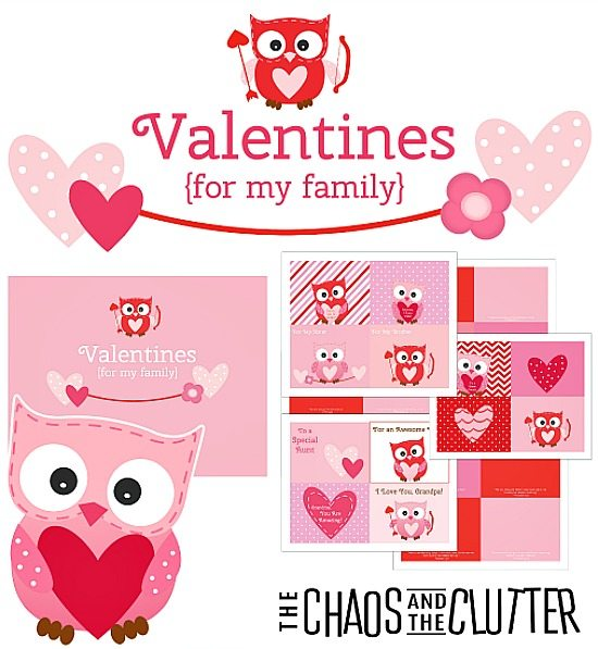 Family Scripture Valentines - These are perfect for preschoolers or homeschoolers.
