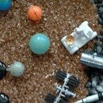 Solar System sensory bin glows in the dark
