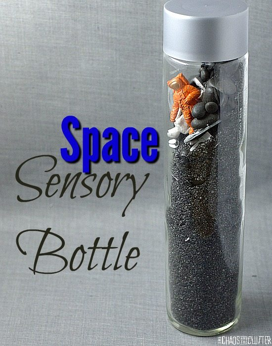 This Space themed discovery bottle is naturally weighted which provides more sensory input.