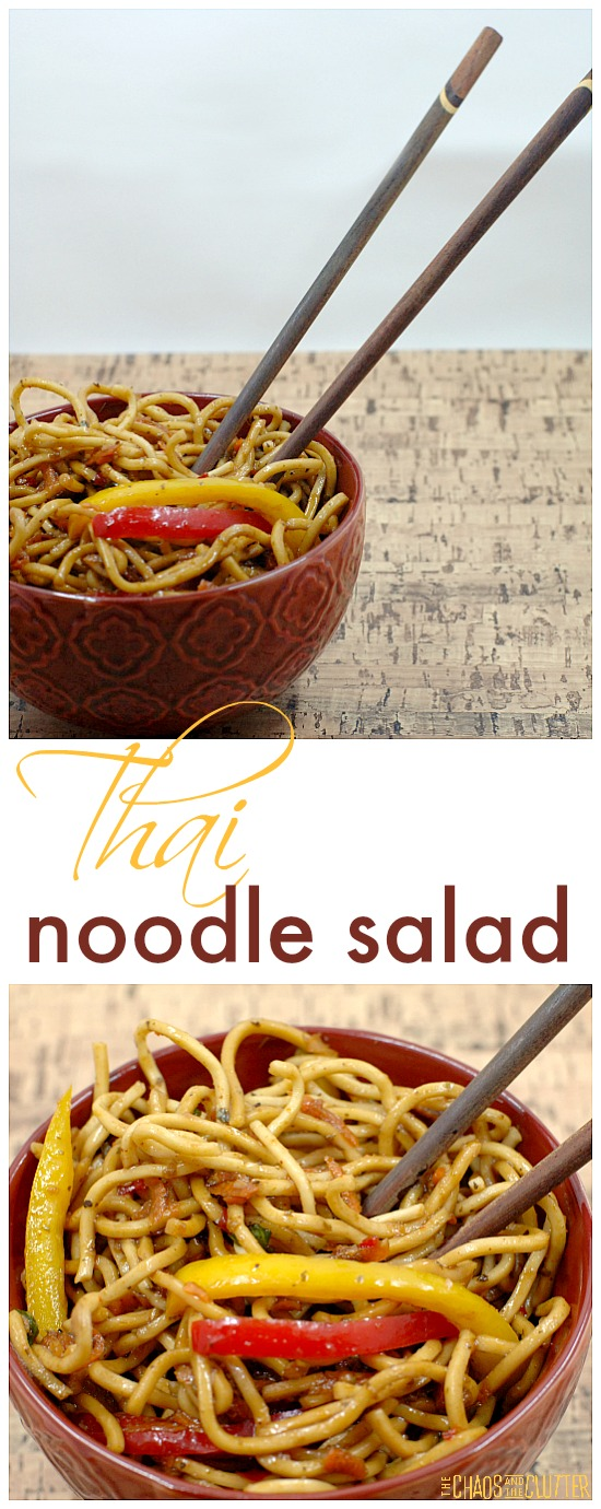 There used to be a popular restaurant that served an unbelievable Thai Noodle Salad that I loved until they sadly took it off the menu. So I recreated it!