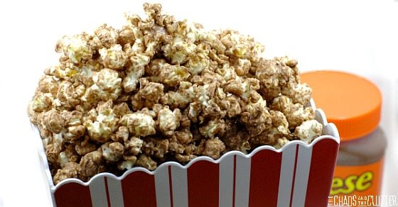 salted chocolate and peanut butter popcorn