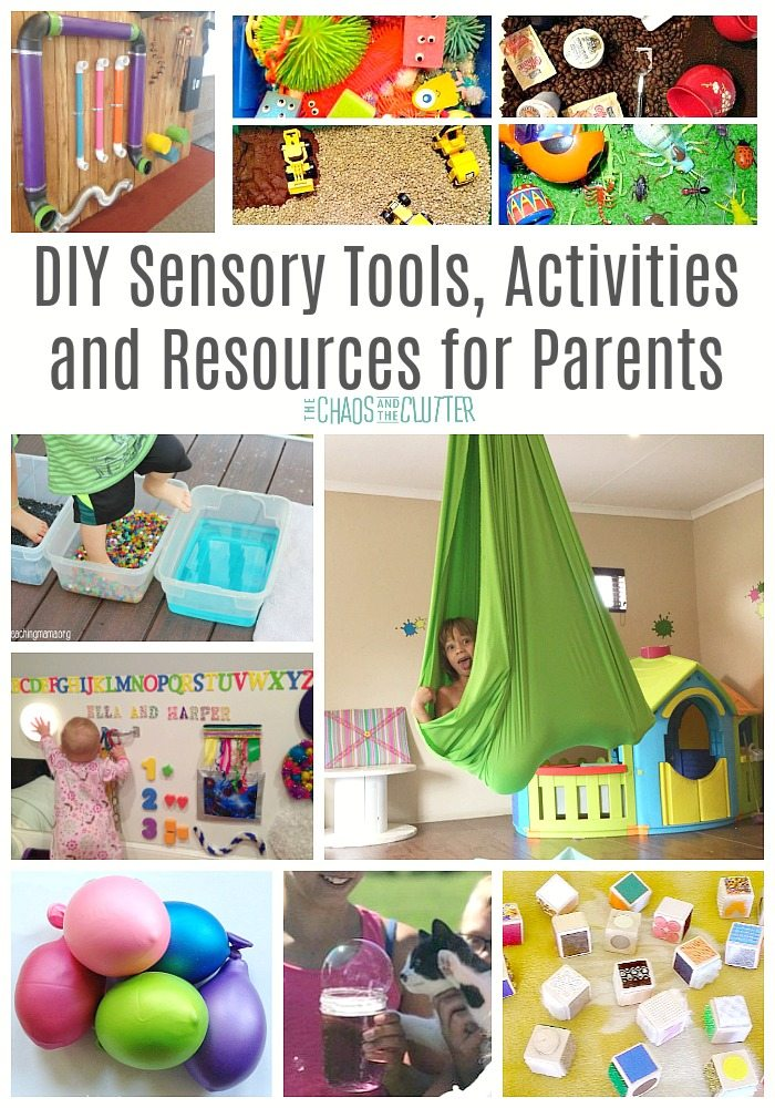 DIY Sensory Tools, Activities and Resources for Parents #sensory #sensoryprocessingdisorder #sensoryprocessingexplained #spd