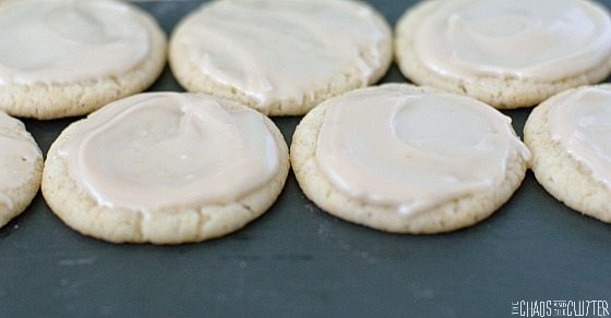 Sugar Cookies Iced with Maple Icing