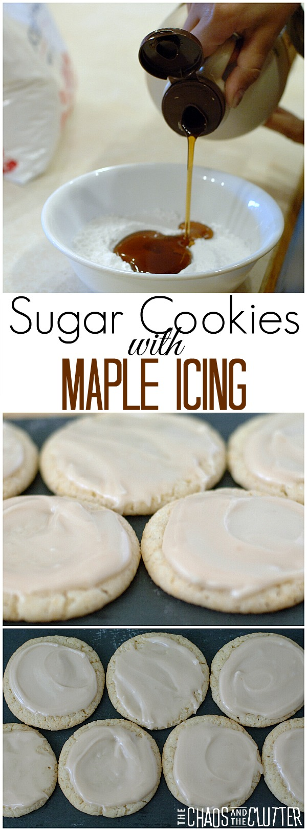Sugar Cookies with Maple Icing. The cookies are just an excuse to eat the icing without a spoon. It's that good!