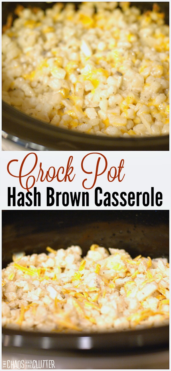 Cheesy Crock Pot Hash Brown Casserole. This easy breakfast recipe is perfect for a crowd.