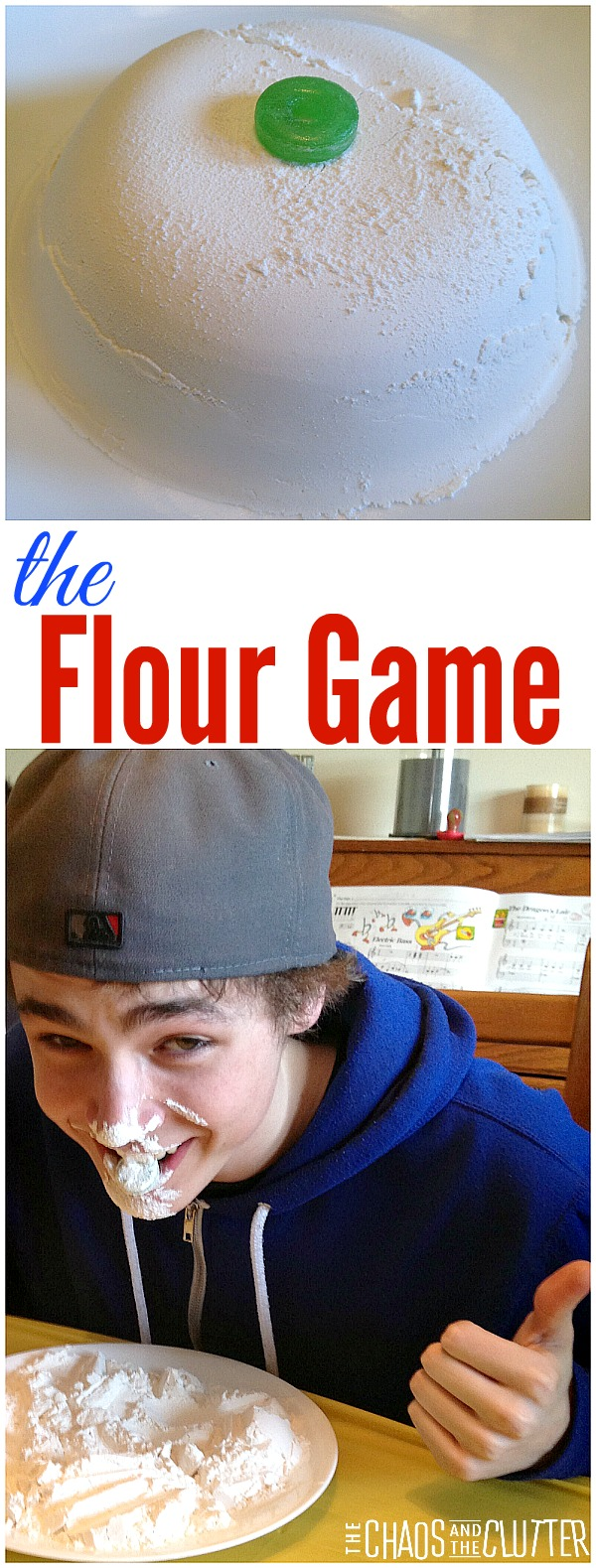 This flour game would be perfect for large parties, youth group events or family reunions because you can play with a wide range of ages.