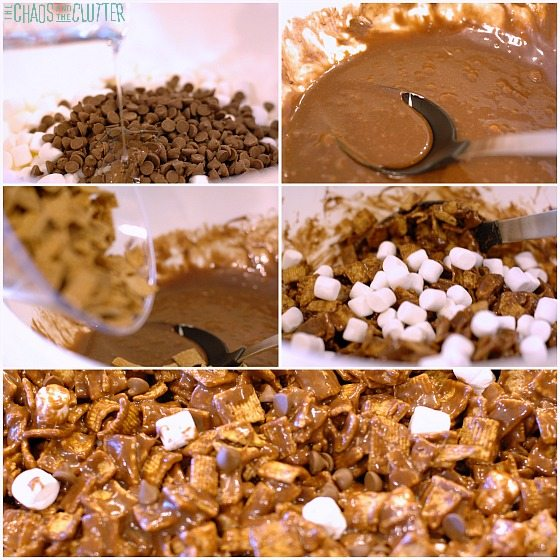 S'mores squares process