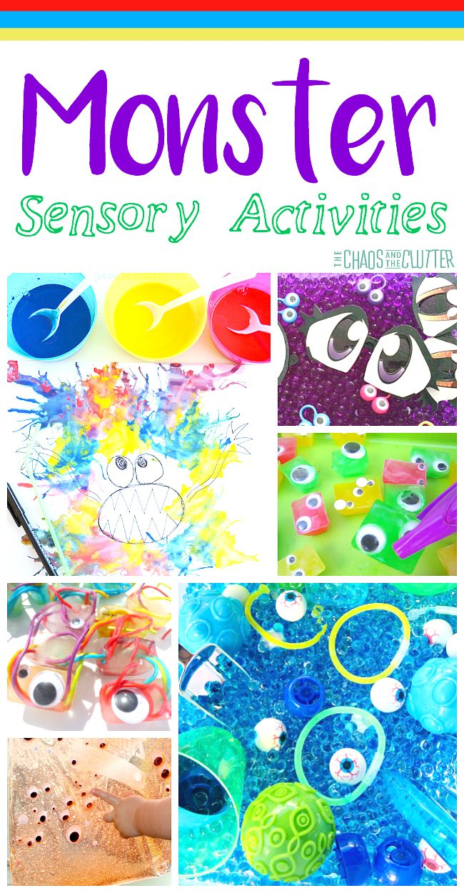These monster sensory activities will have your little ones squealing with delight! Perfect for all kinds of sensory exploration.