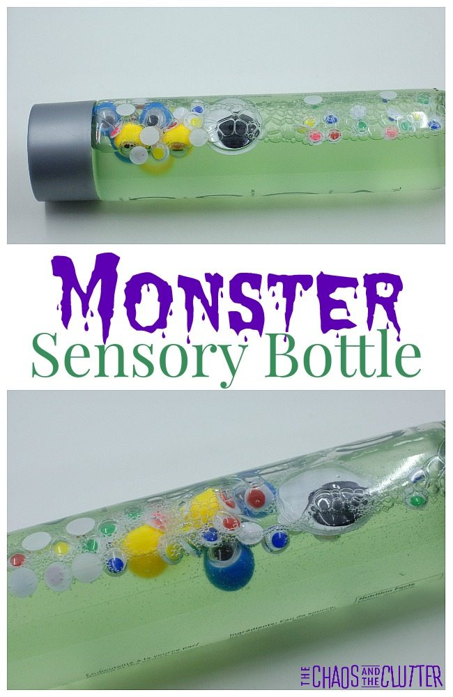 This monster sensory bottle is great for Hallowe'en or for monster theme units.