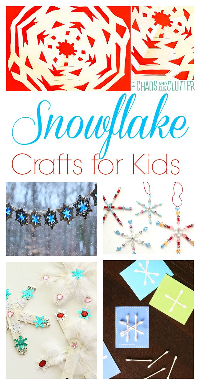 Snowflake crafts and activities for kids or for classrooms
