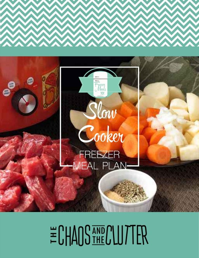 Slow Cooker Freezer Meal Menu Plan