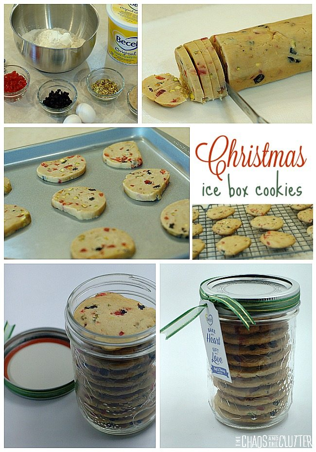 These Christmas ice box cookies make a wonderful holiday gift.