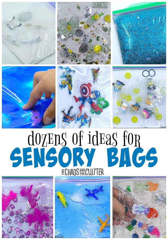 dozens of ideas for sensory bags #sensoryplay #sensorybags #sensory