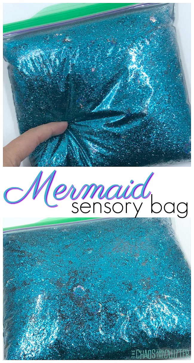 Squishy Mermaid Sensory Bag #sensorybag #sensoryplay #mermaid #sensory