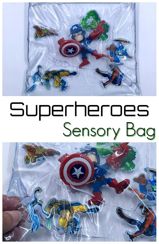 Superheroes Sensory Bag for Superkids