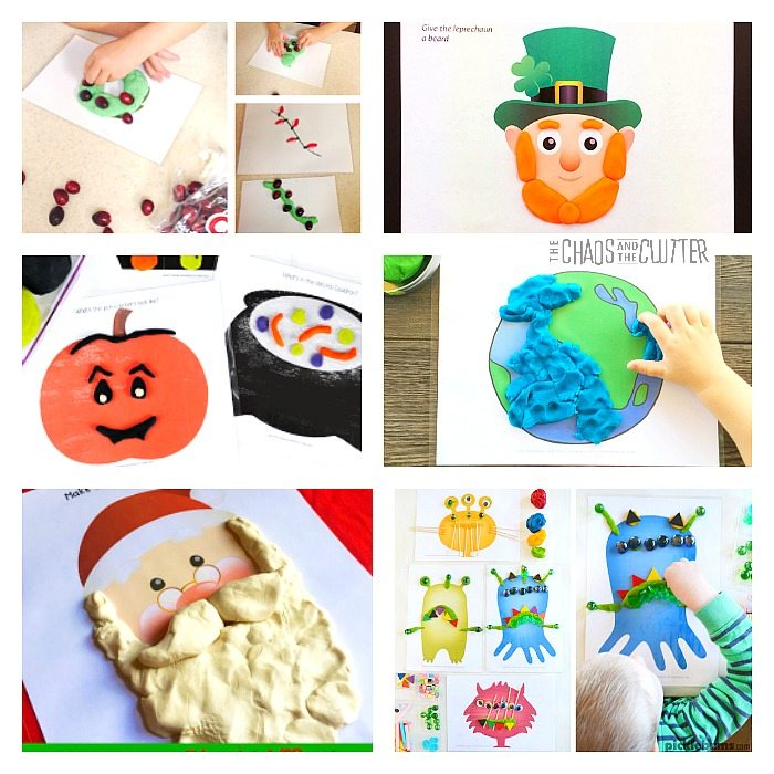 In this post, we share an awesome list of printable playdough mats for sensory play and learning. Kids will love it. They will play while they learn. Isn't that wonderful?!