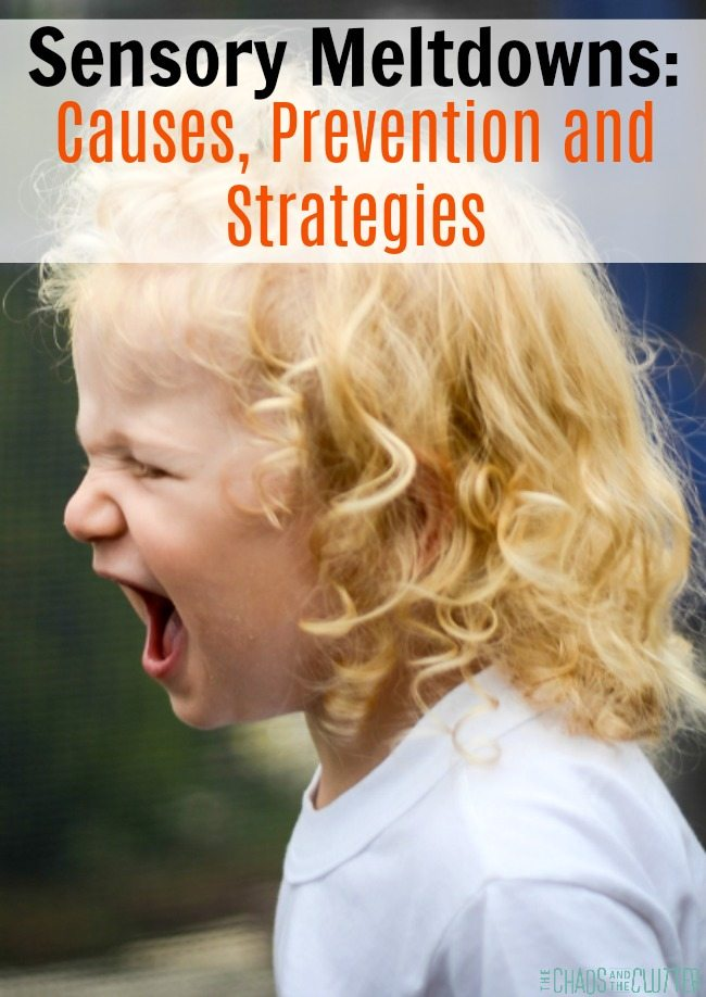 Sensory Meltdowns: Causes, Prevention, Signs, and Strategies. If you're parenting a child who has meltdowns, you have to read this!