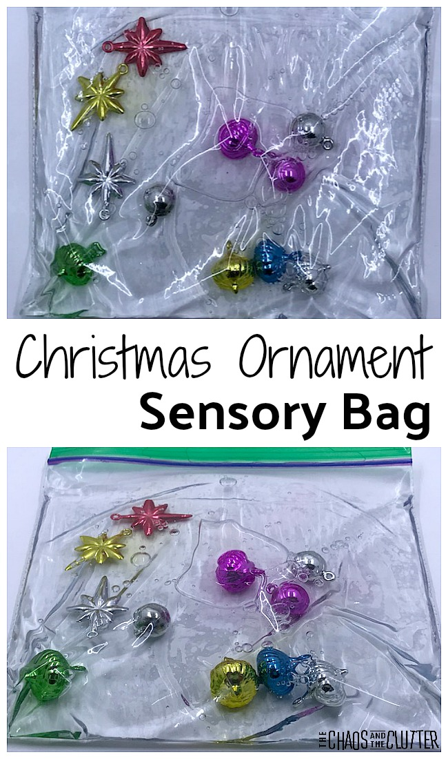 Christmas Ornaments Sensory Bag