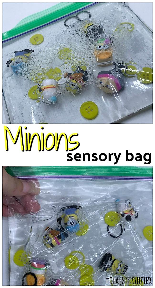 Despicable Me Minions Sensory Bag #minions #sensory