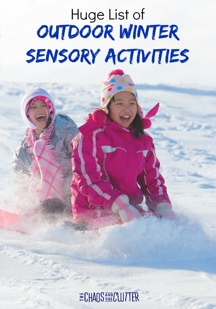 Huge List of Outdoor Winter Sensory Activities designed to get your kids enjoying the colder months too