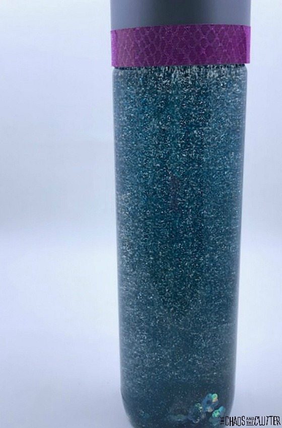 Mermaid Sensory Bottle #sensory #mermaid