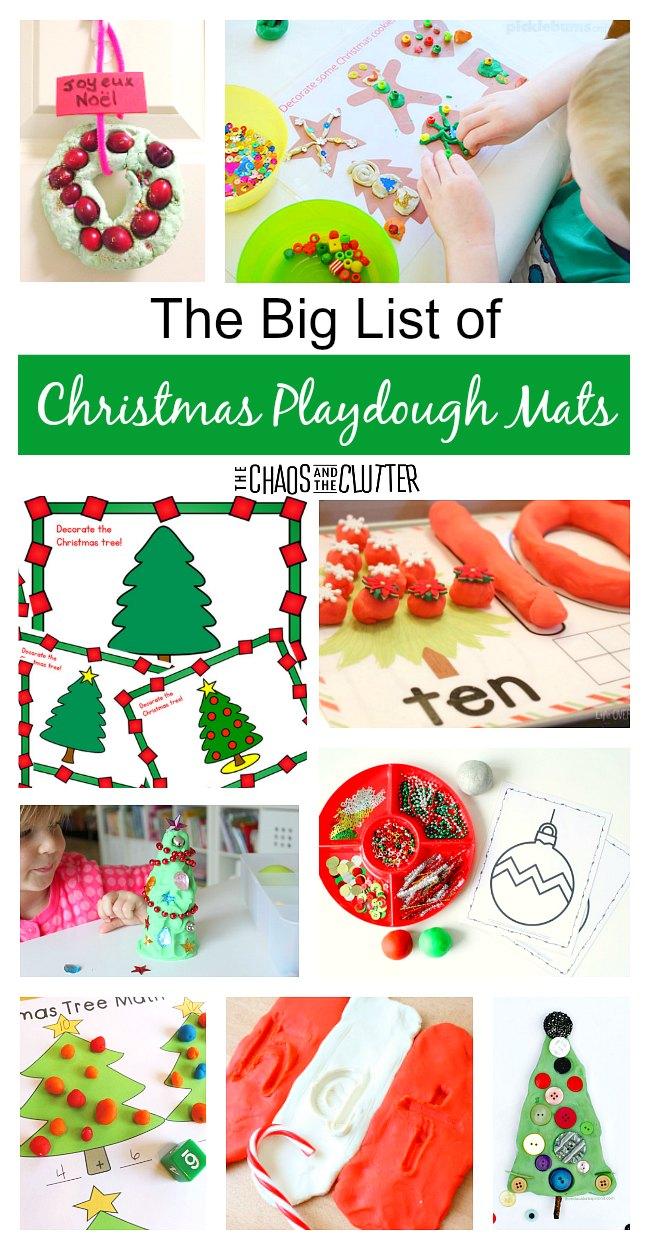 The Christmas List.The Big List Of Christmas Playdough Mats