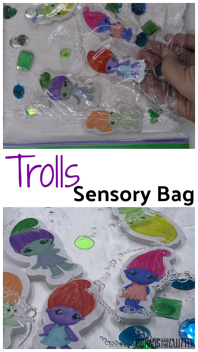 Trolls sensory bag - easy to make